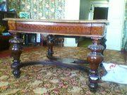 Сумы продам антикварный стол.Дуб.Раздвижной.Б/У