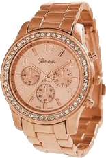 Часы Geneva с золотым напылением розовое золото. 200грн.