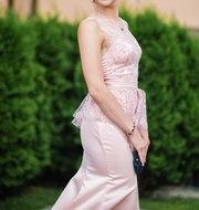 Вечернее (выпускное) платье с юбкой-годе и баской