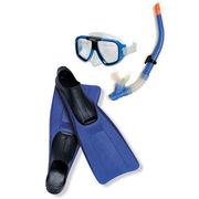 Набор для плавания: маска,  трубка,  ласты Intex интекс от 38 до 40 разм