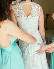 Продам свадебное кружевное платье . Продам платье Сумы. Б/У