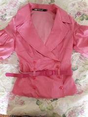 Блуза в красную полоску