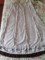 Летняя юбка с вышивкой