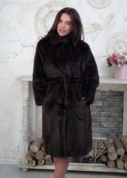 Женская шуба норковая под пояс размер 42 44